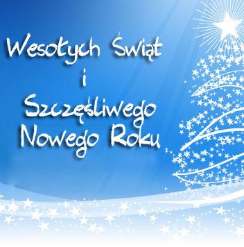 Wesołych Świąt i fantastycznego Nowego 2014 Roku!