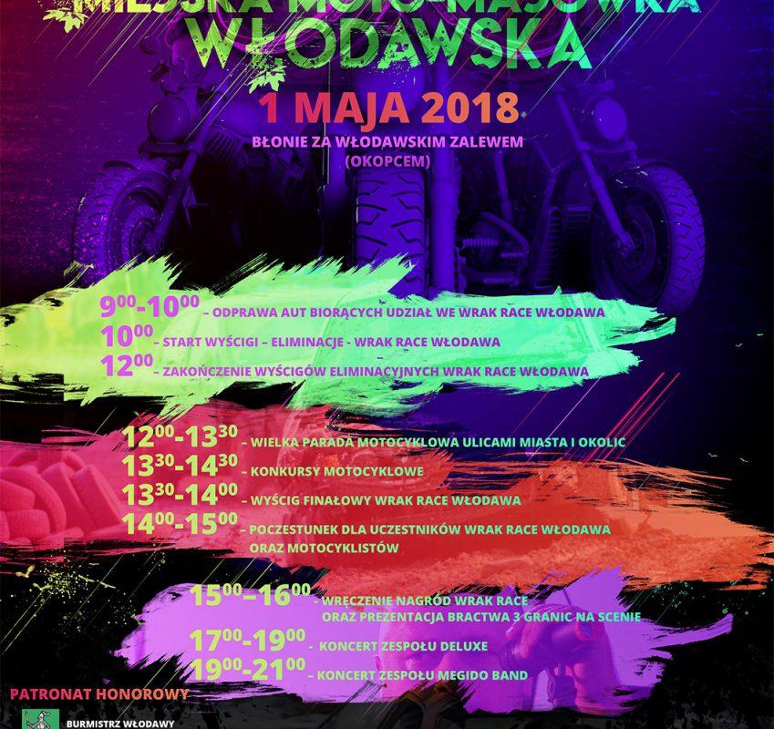 Miejska Moto-Majówka Włodawska 1 maja 2018