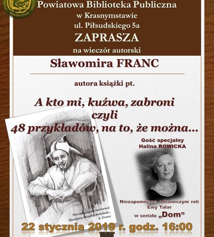 Wieczór autorski Sławomira FRANC