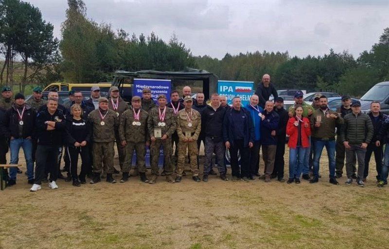 Drużyna IPA Włodawa na zawodach strzeleckich w Zamościu
