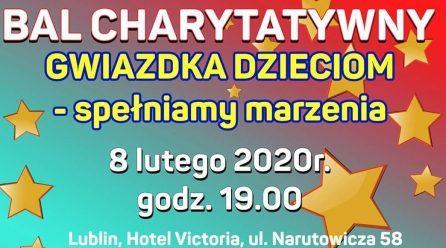 """Zaproszenie na bal charytatywny """"Gwiazdka Dzieciom – spełniamy marzenia"""""""