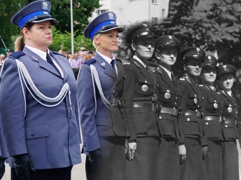 Kobieta w mundurze policyjnym.